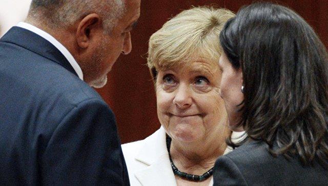 Канцлер Германии Ангела Меркель перед началом заседания Совета Европы в Брюсселе. 20 октября 2017