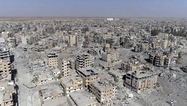 Панорама Ракки, Сирия. 19 октября 2017