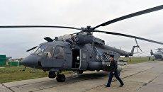 Вертолет Ми-8АМТШ. Архивное фото