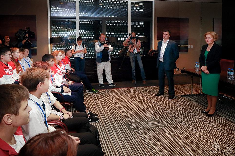 Встреча национальной сборной России с вице-премьером правительства России Ольгой Голодец