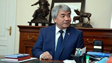 Тугелбай Казаков в должности министра культуры, информации и туризма Киргизии. Архивное фото