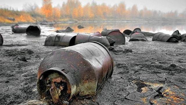 Свалка Черная дыра на территории г. Дзержинска Нижегородской области