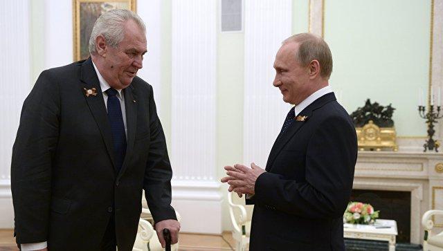 ВСочи прошла рабочая встреча президентов Российской Федерации иЧехии