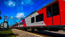 Электропоезд в Москве