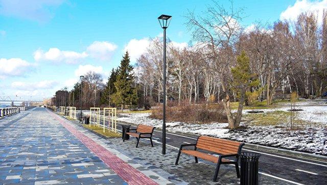 Михайловская набережная в Новосибирске