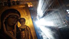 Освящение образа Божьей Матери Казанской, написанного для храма в Сирии