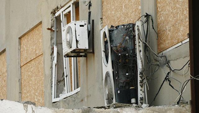 Разрушения на территории Донецкой фильтровальной станции. Архивное фото