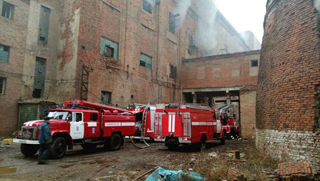 ВКрасноярске зажегся цех натерритории целлюлозно-бумажного комбината