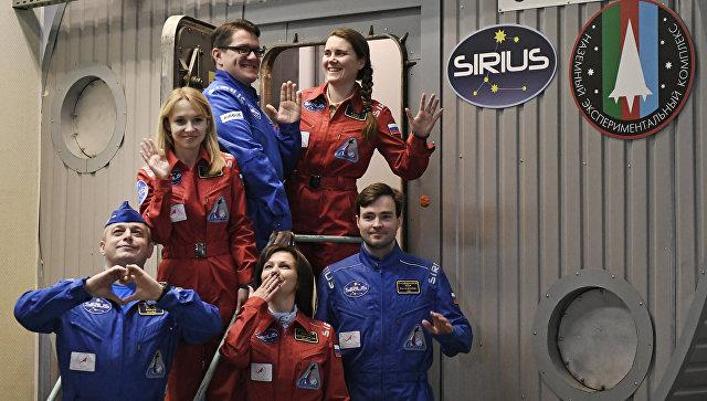 Участники эксперимента по наземному моделированию полета к Луне SIRIUS-17