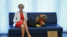 Заместитель председателя Государственной Думы РФ Ирина Яровая перед заседанием президиума генерального совета Единой России. 9 ноября 2017