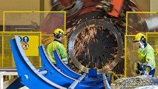 Производство труб для строительства газопроводаСеверный поток – 2. Архивное фото