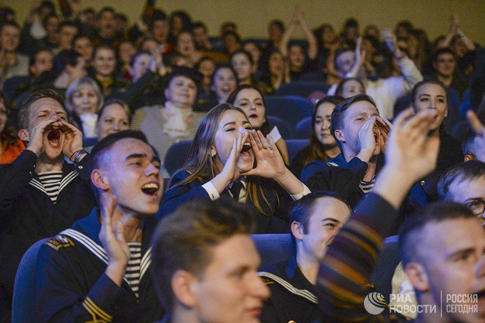 Зрители на конкурсе красоты Краса и честь Санкт-Петербурга
