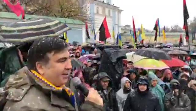 Саакашвили пообещал каждую неделю проводить вече около  Рады