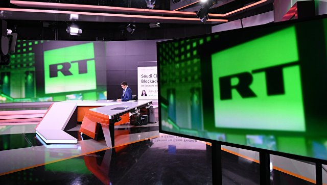 Студия телеканала RT. Архивное фото