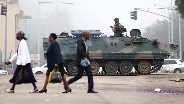 Военные в столице Зимбабве Хараре