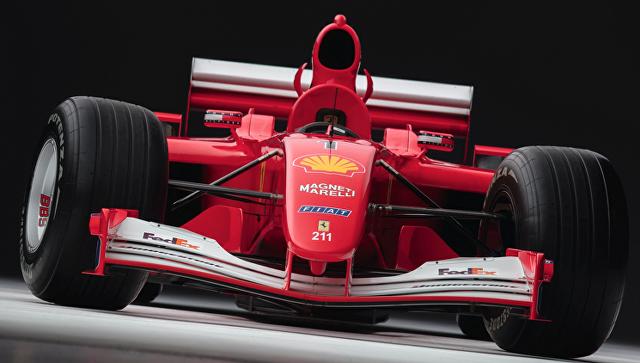 Гоночный болид Ferrari, на котором Михаэль Шумахер выиграл Гран-при Монако. Архивное фото