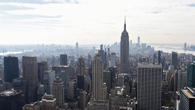 Эмпайр-стейт-билдинг в Нью-Йорке на Манхэттене