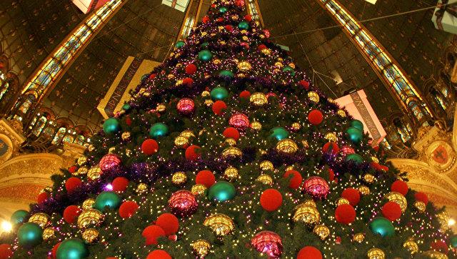 Новогодняя елкя в Париже. Архивное фото