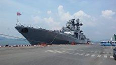 Большой противолодочный корабль Адмирал Пантелеев во время визита в Таиланд. Архивное фото