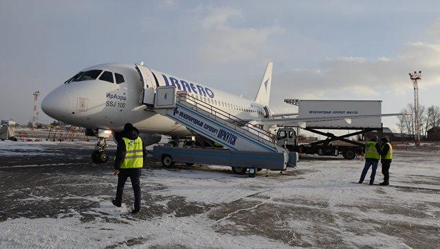 Самолет с бортовым номером RA-89008, названный именем Преподобного Сергия Радонежского, авиакомпании ИрАэро