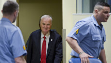 Сербский генерал Ратко Младич в Международном трибунале по бывшей Югославии (МТБЮ). 22 ноября 2017