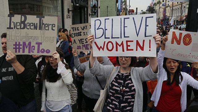 Акция против сексуальных домогательств в Лос-Анджелесе, США