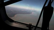 Побережье Аргентины с самолета во время операции по поиску пропавшей подлодки Сан-Хуан. 22 ноября 2017