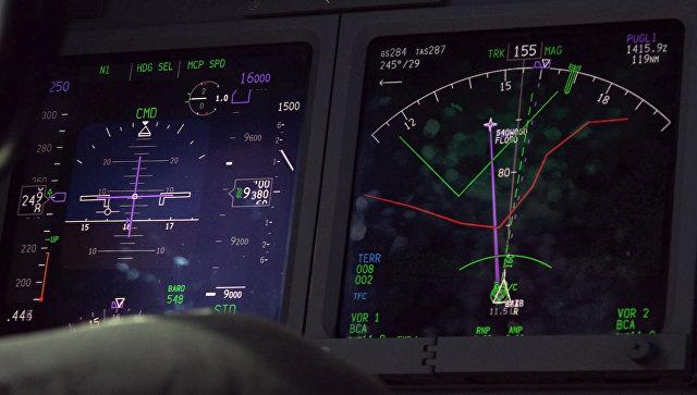 Экран радара самолета во время поиска подводной лодки ВМС Аргентины Сан-Хуан.  22 ноября 2017