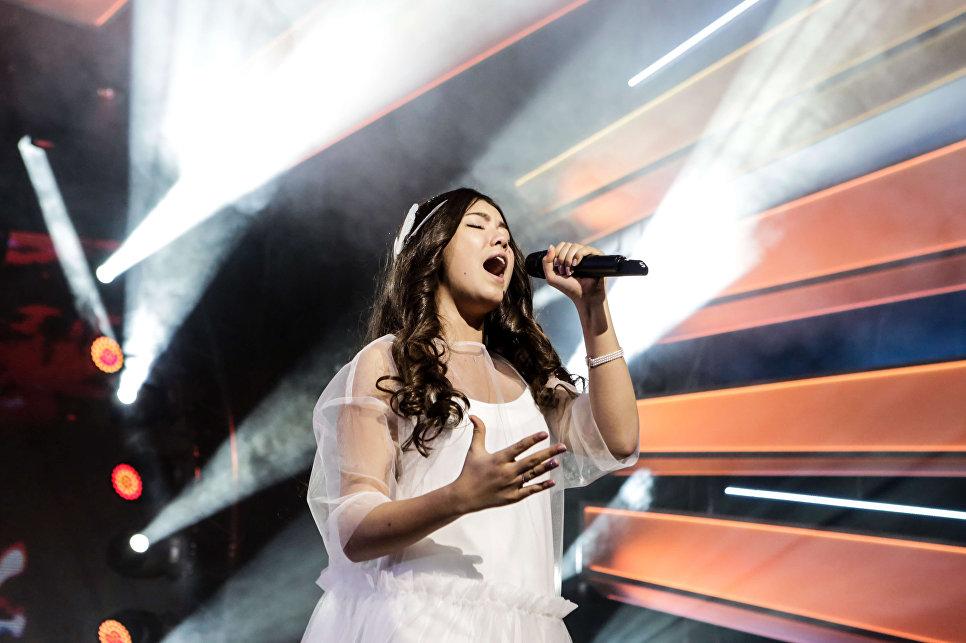 Участница Детского Евровидения-2017 от России Полина Богусевич во время репетиции