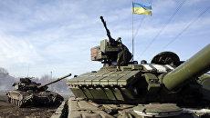 Танки украинской армии около Горловки