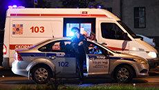 Автомобили полиции и скорой медицинской помощи. Архивное фото