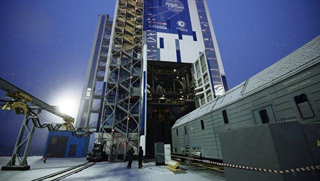Подготовка к пуску ракеты носителя Союз-2.1б с космодрома Восточный. Архивное фото