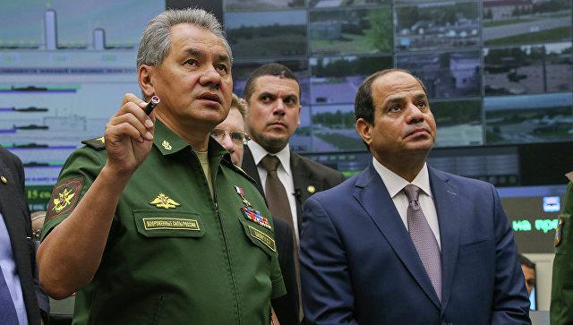 Генерал армииРФ Сергей Шойгу прибыл свизитом вЕгипет