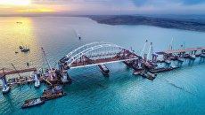 Строительство моста в Крым. Архивное фото