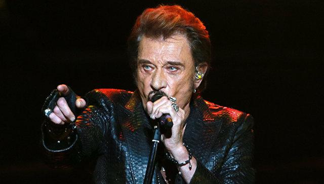 Французский рок-певец Джонни Холлидей. Архивное фото