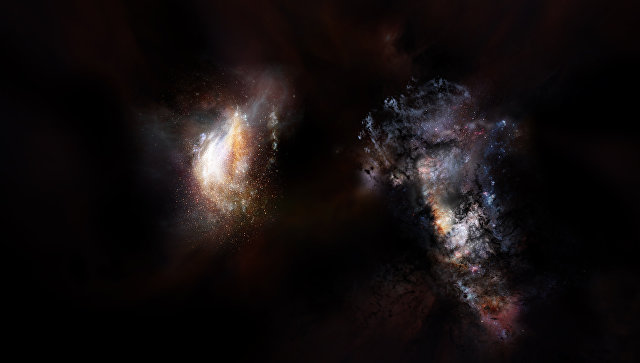 Ученые: Первые галактики окружали «океаны» черной материи