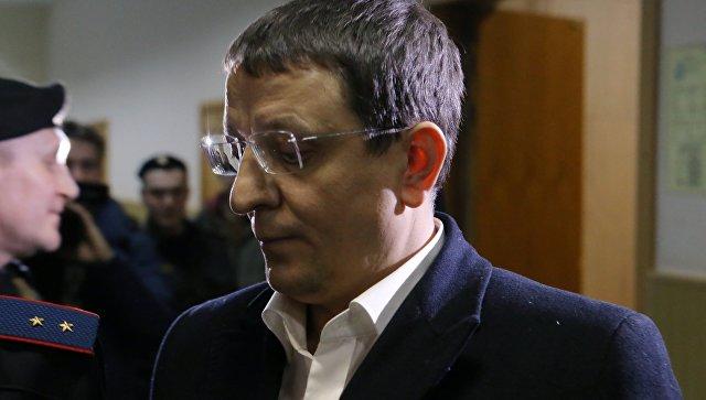 Заместитель главы Экспертно-криминалистического центра МВД Олег Мазур в Басманном суде Москвы. 7 декабря 2017