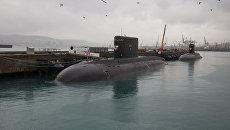 Подводная лодка Старый Оскол на военно-морской базе в Новороссийске. Архивное фото