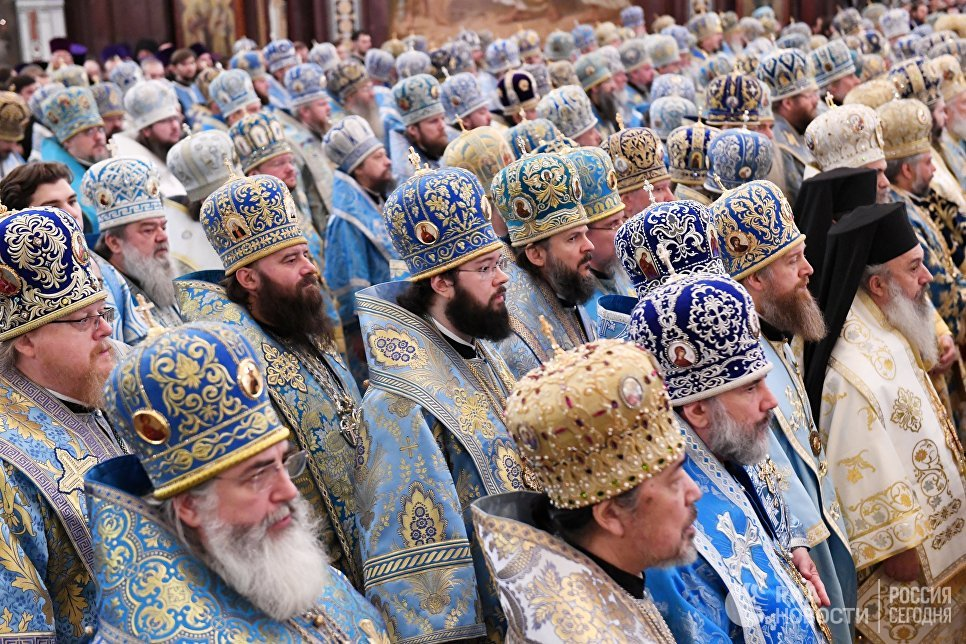 Божественная литургия в Кафедральном Соборном Храме Христа Спасителя