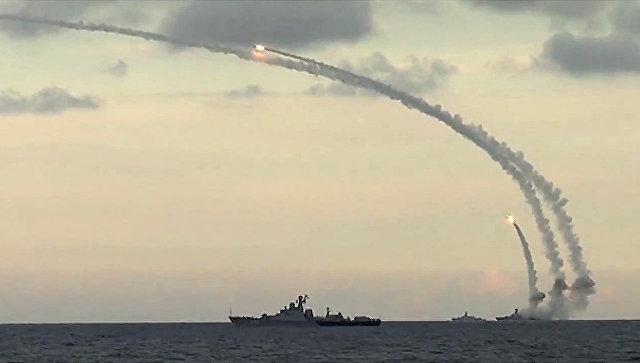 Российские корабли наносят удары. Архивное фото
