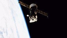 Космический корабль Союз МС-05 возвращается на Землю