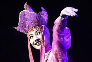 Участница на конкурсе красоты и грации Miss Asia Russia в Москве