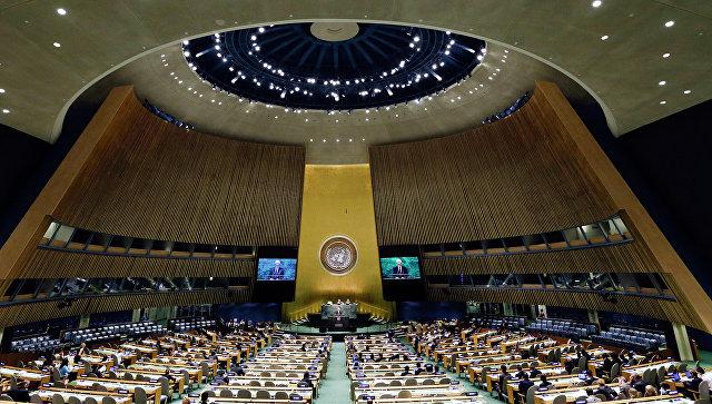 Заседание Генеральной Ассамблеи ООН. Архивное фото