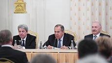 Министр иностранных дел РФ Сергей Лавров на собрании комиссии по делам ЮНЕСКО в Москве. 20 декабря 2017
