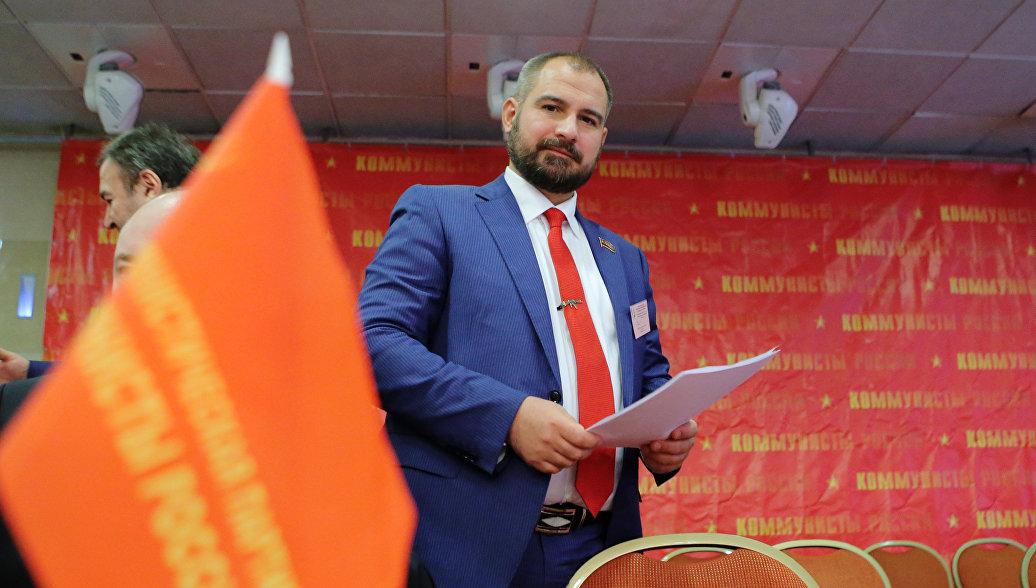 Лидер партии Максим Сурайкин на съезде партии Коммунисты России. Архивное фото