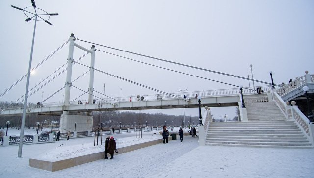 Реконструированная набережная реки Урал в Оренбурге