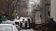 Ситуация возле фабрики Меньшевик, где произошла стрельба, Москва. 27 декабря 2017
