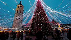 Елка в Вильнюсе, Литва. 6 декабря 2017
