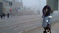 На улицах столицы Якутии появились манекены школьников, собирающихся перейти проезжую часть. 5 января 2018