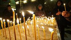 Всенощное бдение в кафедральном соборе Христа Спасителя в Калининграде в праздник Рождества Христова. 6 января 2018